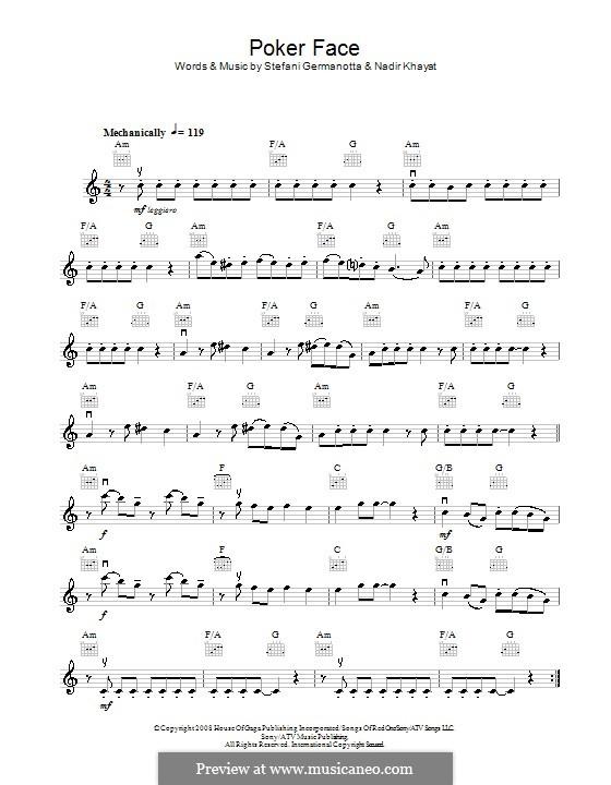 Poker Face (Lady Gaga): For violin by RedOne, Stefani Germanotta