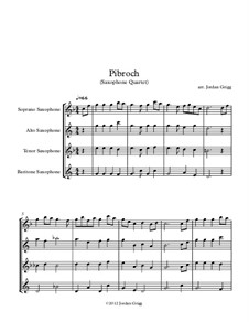 Pibroch: For saxophone quartet by folklore