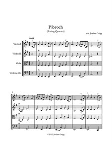 Pibroch: For string quartet by folklore