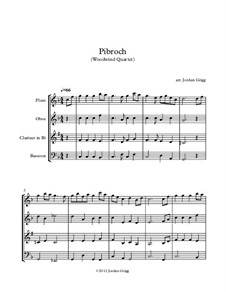 Pibroch: For woodwind quartet by folklore
