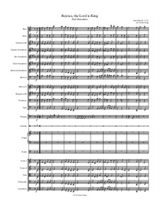 Rejoice the Lord Is King: For full ensemble by John Darwall
