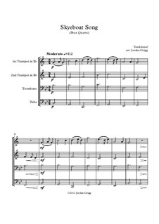 Skye Boat Song: For brass quartet by folklore