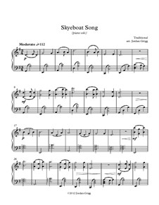 Skye Boat Song: For piano solo by folklore