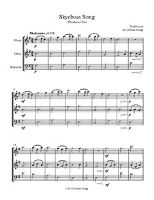 Skye Boat Song: For woodwind trio by folklore