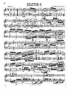 String Quartet No.8 in E Minor 'Rasumowsky-Quartet', Op.59 No.2: Version for piano by Ludwig van Beethoven