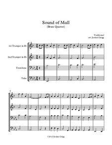 Sound of Mull: For brass quartet by folklore