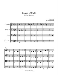 Sound of Mull: For string quartet by folklore
