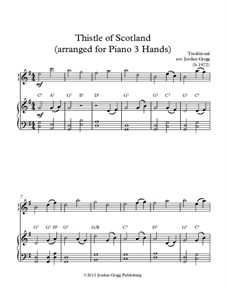 Thistle of Scotland: For piano three hands by folklore
