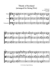Thistle of Scotland: For string trio by folklore