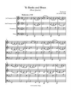 Ye Banks and Braes: For brass quartet by folklore