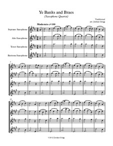 Ye Banks and Braes: For saxophone quartet by folklore
