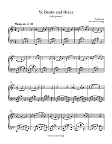 Ye Banks and Braes: For solo piano by folklore