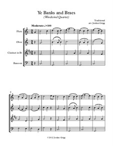 Ye Banks and Braes: For woodwind quartet by folklore