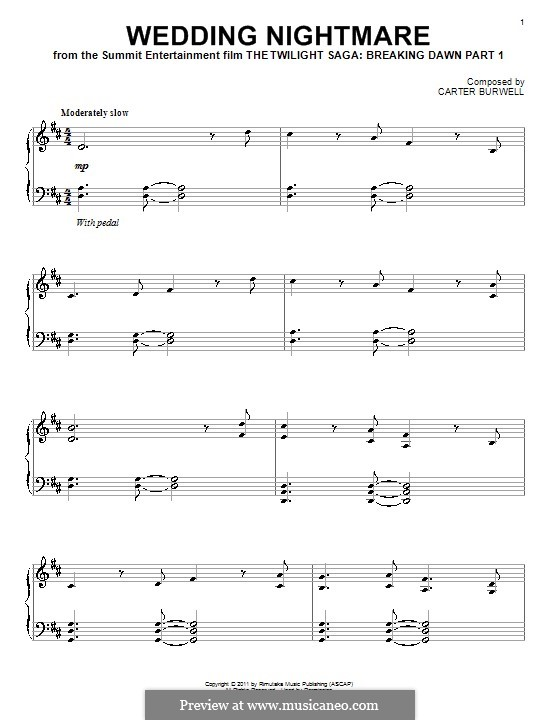 Wedding Nightmare: For piano by Carter Burwell