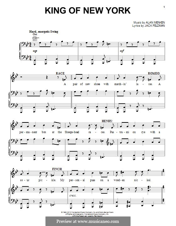 photo about Free Printable Broadway Sheet Music identified as Melody line