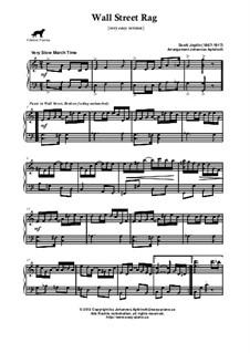 Wall Street Rag: Very easy version by Scott Joplin
