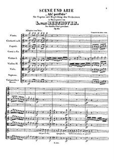 Ah! Perfido, Op.65: Full score by Ludwig van Beethoven