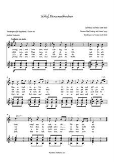 Six Songs, Op.13: Nr.2 Schlaf, Herzenssöhnchen, J.96 by Carl Maria von Weber