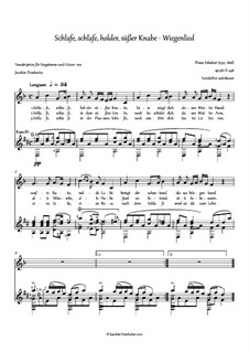 Wiegenlied (Cradle Song), D.498 Op.98 No.2: For voice and guitar by Franz Schubert