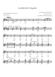 Five Songs, Op.9: Nr.3 So schlaf in Ruh by Friedrich Curschmann