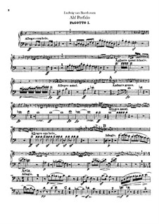 Ah! Perfido, Op.65: Bassoons parts by Ludwig van Beethoven