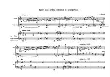 Трио для арфы, скрипки и контрабаса, Oр.31: Трио для арфы, скрипки и контрабаса by Vladimir Schefner