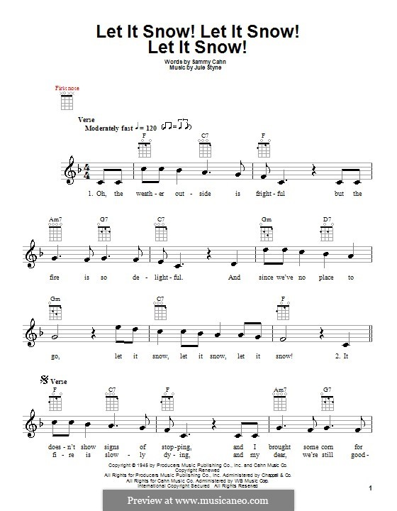Let It Snow! Let It Snow! Let It Snow!: For ukulele by Jule Styne