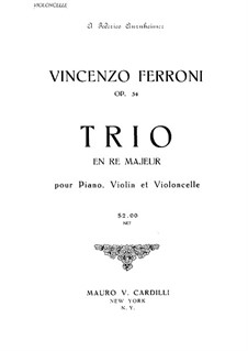 Piano Trio in D Major, Op.54: Cello part by Vincenzo Ferroni