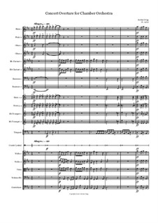 Concert Overture for Chamber Orchestra: Concert Overture for Chamber Orchestra by Jordan Grigg