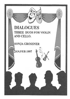 Dialogues for violin and cello: For violin and cello by Sonja Grossner