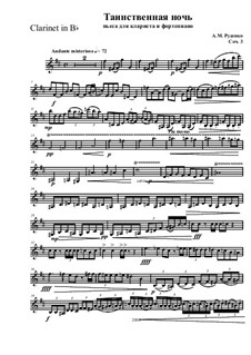 Mysterious night for clarinet and piano, Op.3: Сlarinet part by Andrew Rudenko