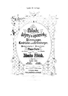 Book 1, Op.44 No.11-16: Book 1 by Zdeněk Fibich