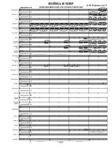 Overture 'War and Peace', Ор.9: Full score by Andrew Rudenko