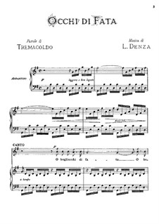 Occhi di fata: Piano-vocal score by Luigi Denza