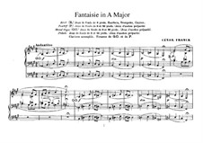 Three Pieces for Grand Organ: Fantasia No.2 in A Major by César Franck