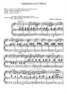Andantino in G Minor: For organ by César Franck