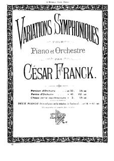 Symphonic Variations, M.46: Piano score by César Franck