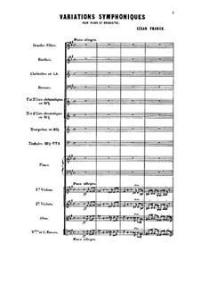 Symphonic Variations, M.46: Full score by César Franck