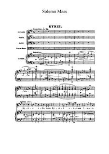 Mass in A Major, FWV 61 Op.12: Score by César Franck