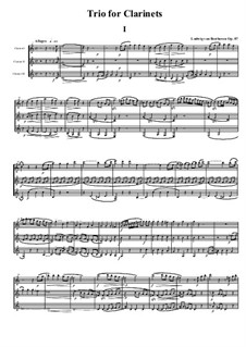 Trio for Two Oboes and Cor Anglais, Op.87: Movement I by Ludwig van Beethoven
