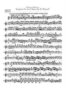 Complete Symphony: Oboes I, II parts by Ludwig van Beethoven