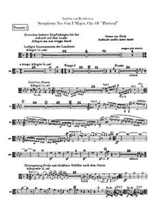 Complete Symphony: Trombones I, II parts by Ludwig van Beethoven