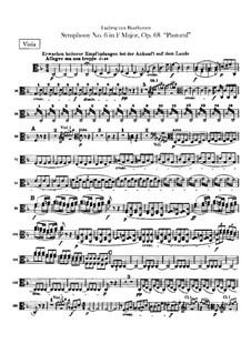 Complete Symphony: Viola part by Ludwig van Beethoven