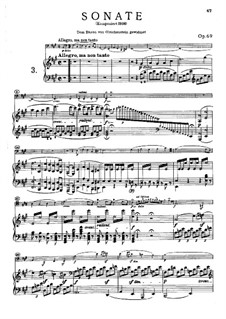 Sonata for Cello and Piano No.3 in A Major, Op.69: Allegro, ma non tanto by Ludwig van Beethoven