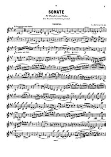Sonata for Cello and Piano No.3 in A Major, Op.69: Version for violin and piano – solo part by Ludwig van Beethoven