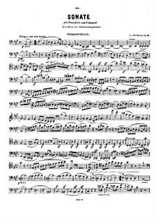 Sonata for Cello and Piano No.3 in A Major, Op.69: Solo part by Ludwig van Beethoven