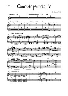Concerto piccolo No.4 for 13 strings, piano and harpsichord: Parts by Peter Petrof