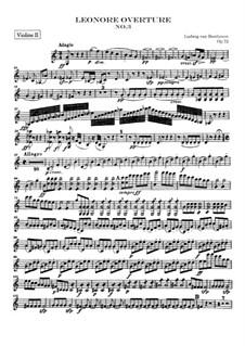 Leonore. Overture No.3, Op.72b: Violin II part by Ludwig van Beethoven