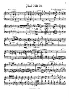String Quartet No.10 in E Flat Major 'Harp', Op.74: Version for piano by L. Winkler by Ludwig van Beethoven