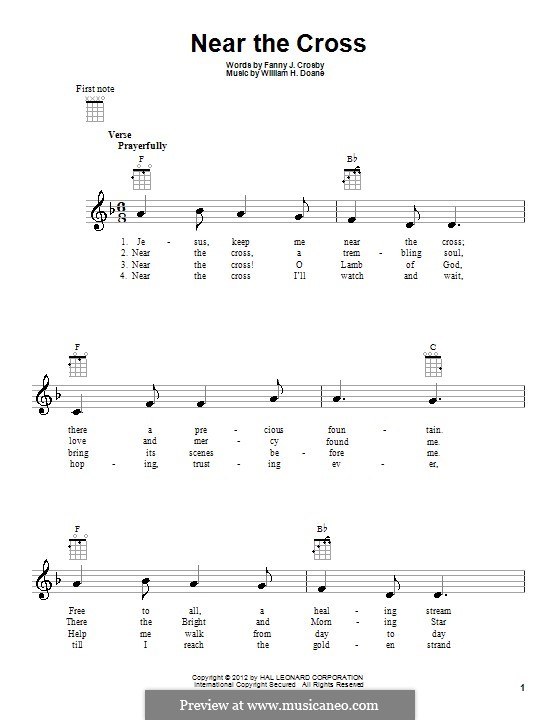 Near the Cross: For ukulele by William Howard Doane